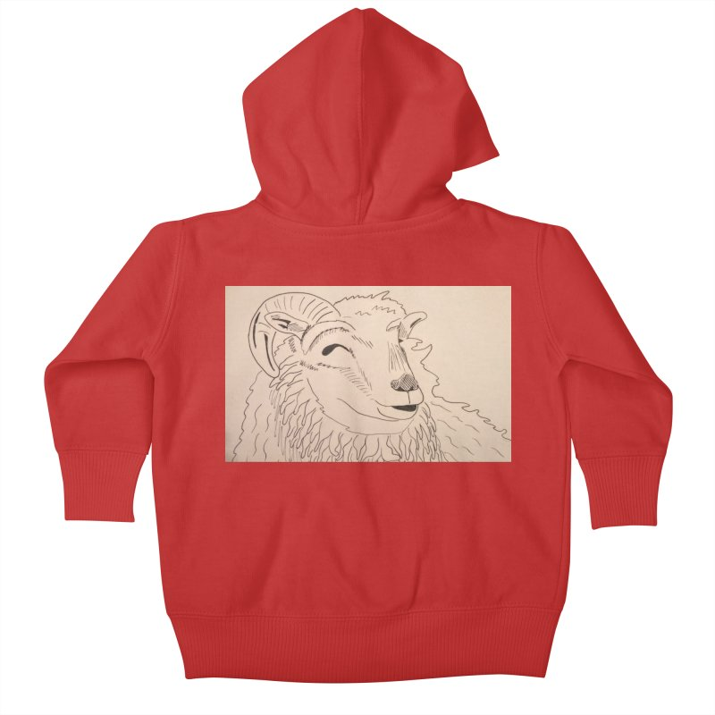 Ram Kids Baby Zip-Up Hoody by Whimsical Wildlife Wares