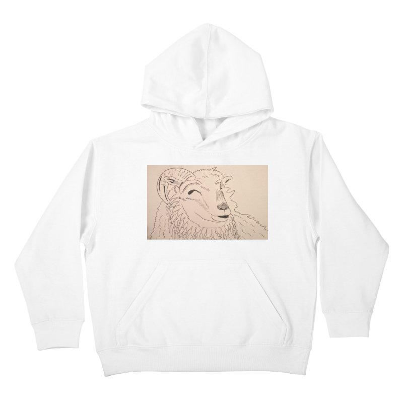 Ram Kids Pullover Hoody by Whimsical Wildlife Wares