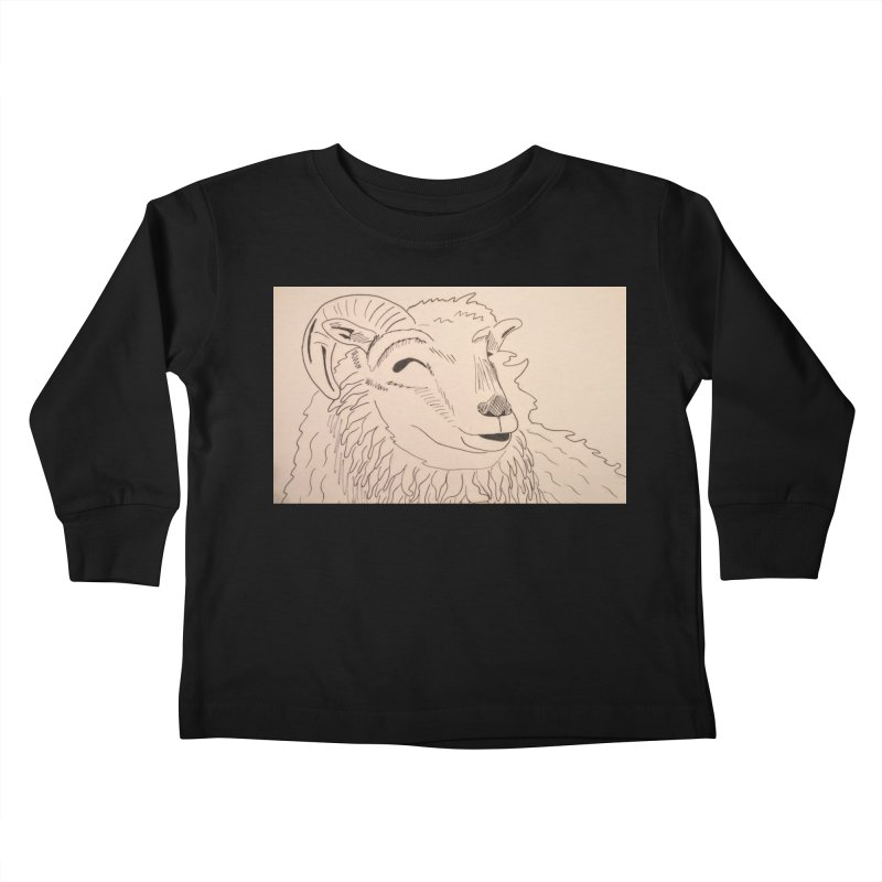 Ram Kids Toddler Longsleeve T-Shirt by Whimsical Wildlife Wares
