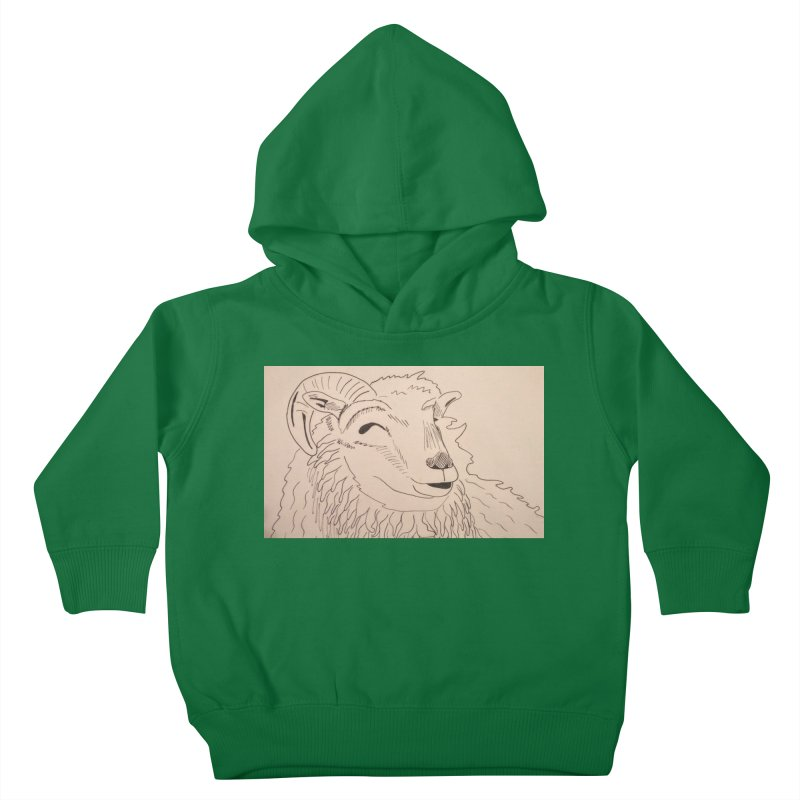 Ram Kids Toddler Pullover Hoody by Whimsical Wildlife Wares