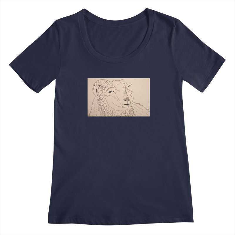 Ram Women's Scoopneck by Whimsical Wildlife Wares