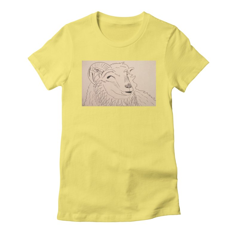 Ram Women's Fitted T-Shirt by Whimsical Wildlife Wares