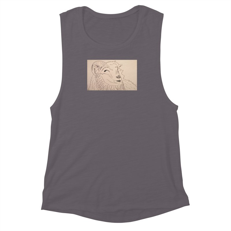 Ram Women's Muscle Tank by Whimsical Wildlife Wares
