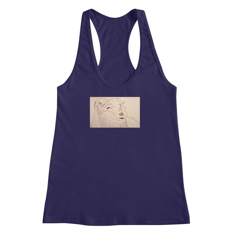 Ram Women's Racerback Tank by Whimsical Wildlife Wares