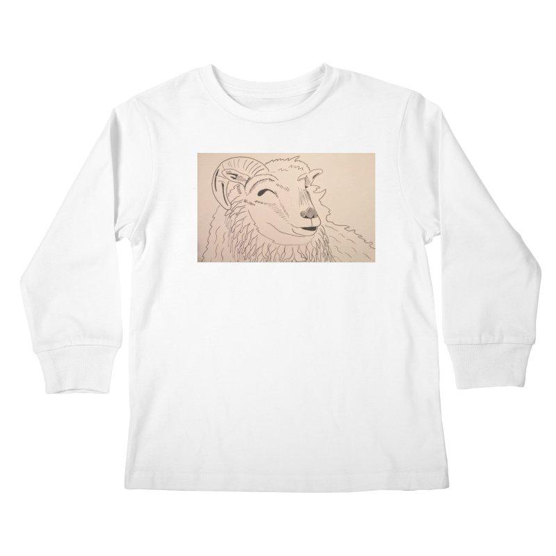 Ram Kids Longsleeve T-Shirt by Whimsical Wildlife Wares