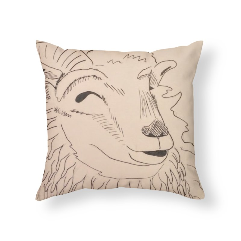 Ram Home Throw Pillow by Whimsical Wildlife Wares