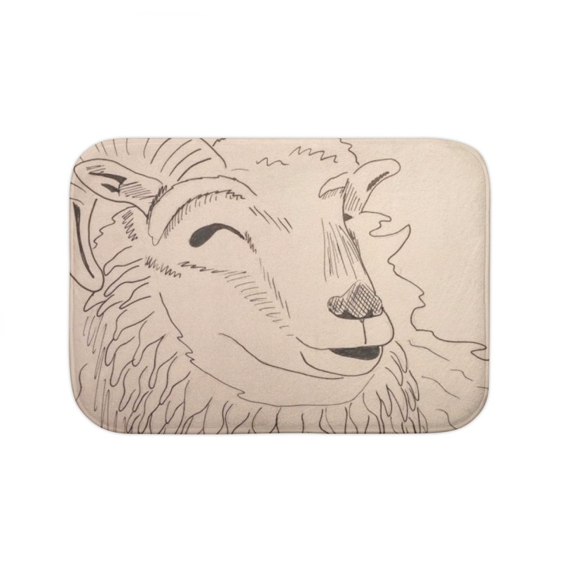 Ram Home Bath Mat by Whimsical Wildlife Wares