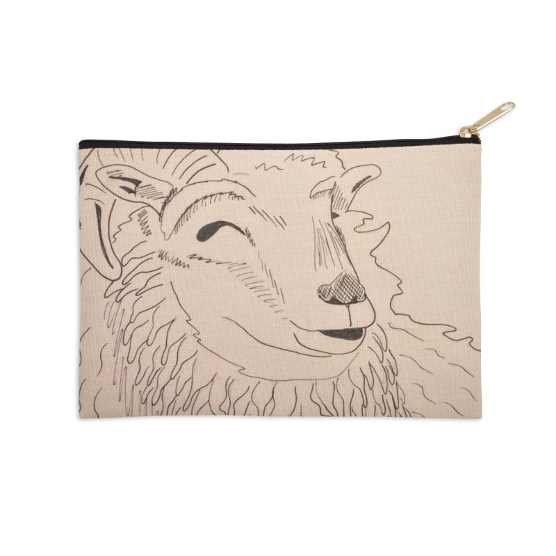 Ram Accessories Zip Pouch by Whimsical Wildlife Wares