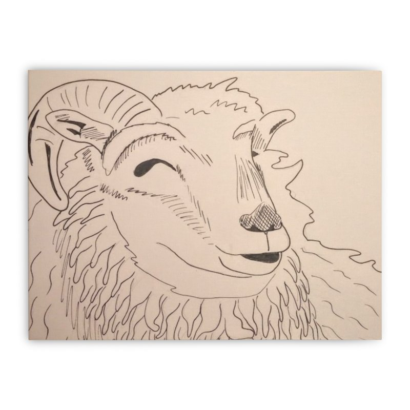 Ram Home Stretched Canvas by Whimsical Wildlife Wares