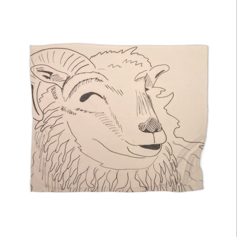 Ram Home Blanket by Whimsical Wildlife Wares