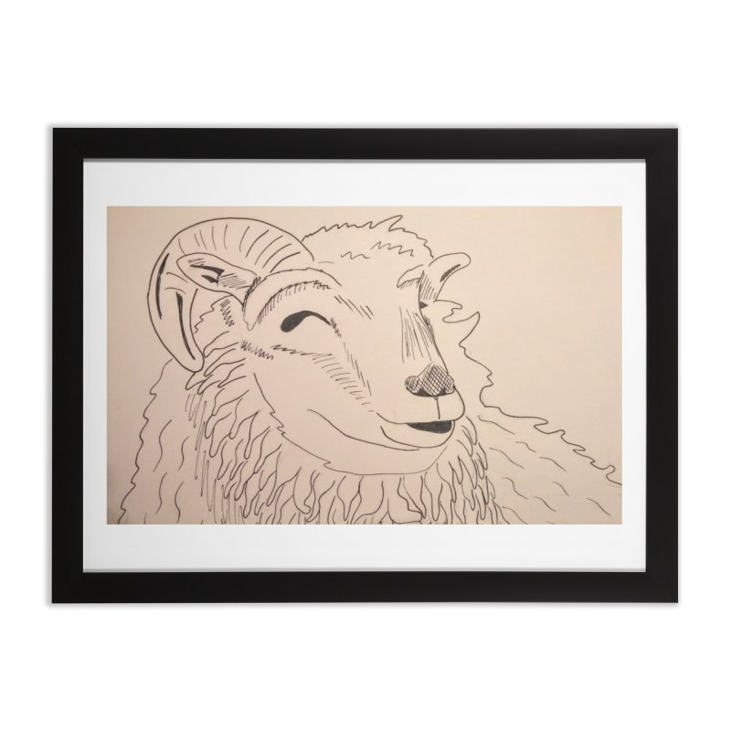 Ram Home Framed Fine Art Print by Whimsical Wildlife Wares