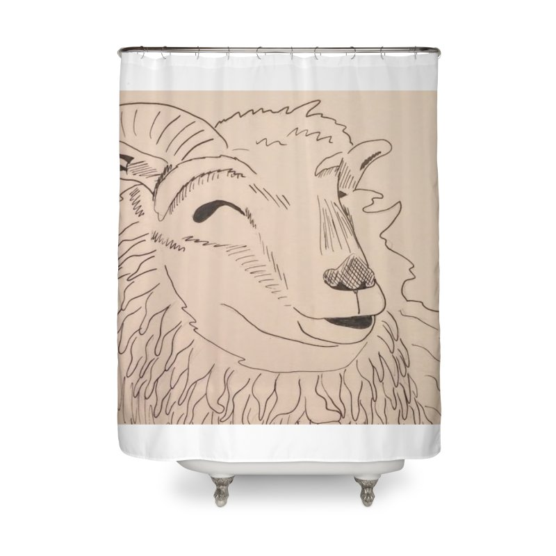Ram Home Shower Curtain by Whimsical Wildlife Wares
