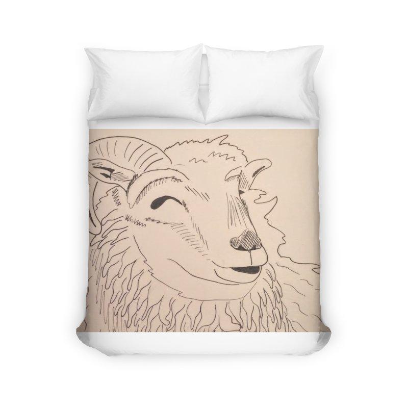 Ram Home Duvet by Whimsical Wildlife Wares