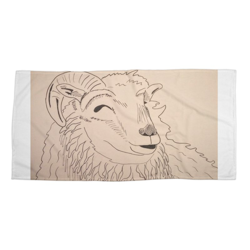 Ram Accessories Beach Towel by Whimsical Wildlife Wares