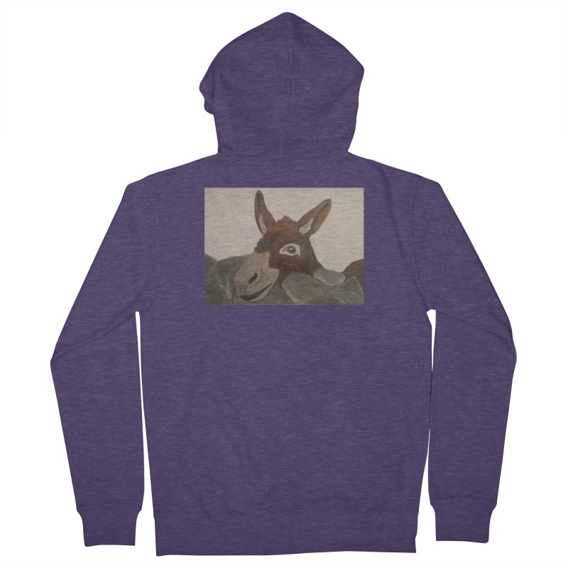 Donkey Men's Zip-Up Hoody by Whimsical Wildlife Wares
