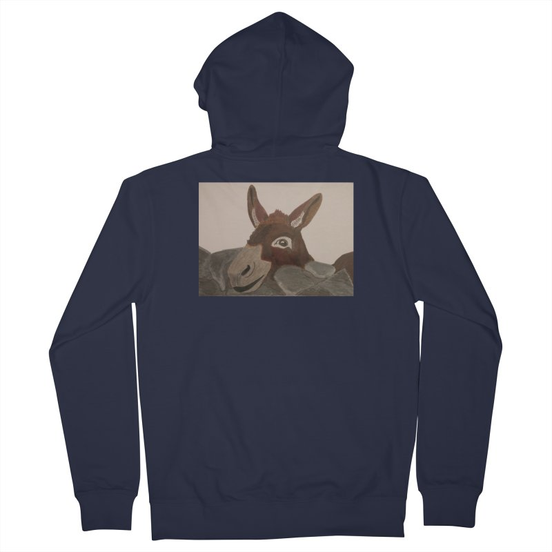 Donkey Men's Zip-Up Hoody by Whimsical Wildlife Wares