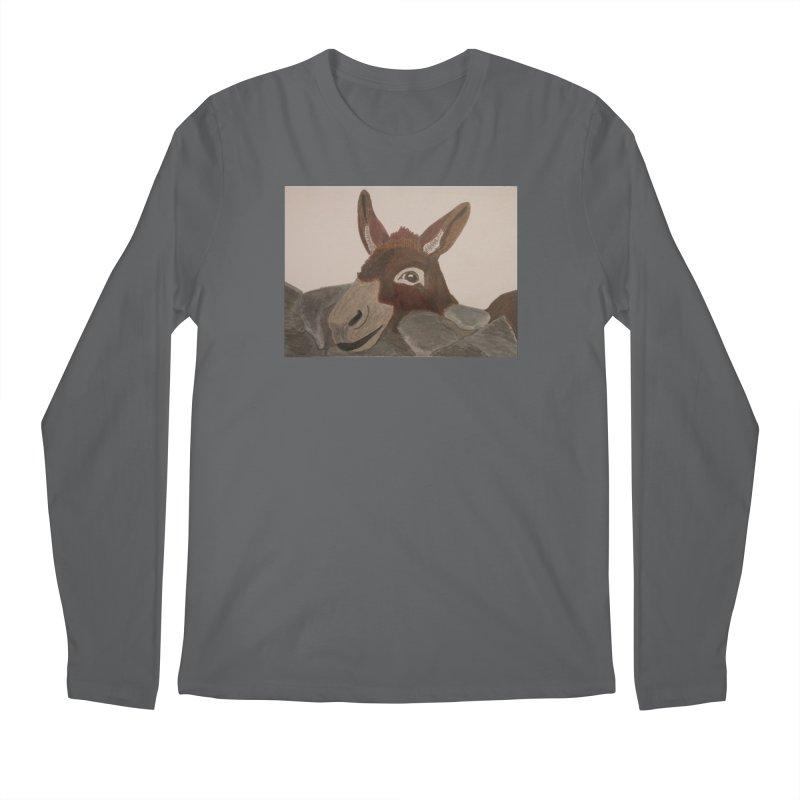 Donkey Men's Longsleeve T-Shirt by Whimsical Wildlife Wares
