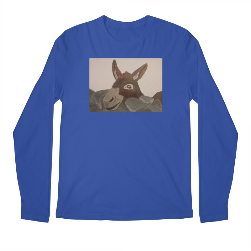 Donkey Men's Longsleeve T-Shirt by Whimsical Wildlife Wares