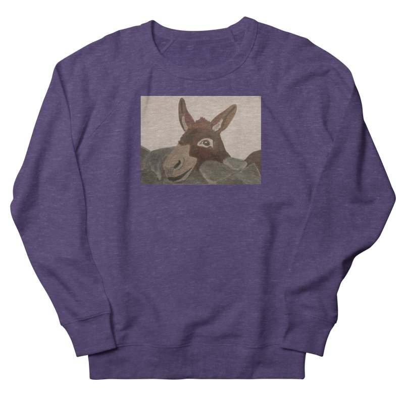 Donkey Women's Sweatshirt by Whimsical Wildlife Wares