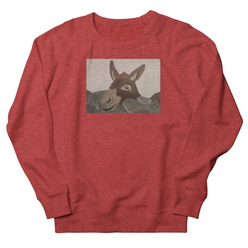 Donkey Women's Sweatshirt by Whimsical Wildlife Wares