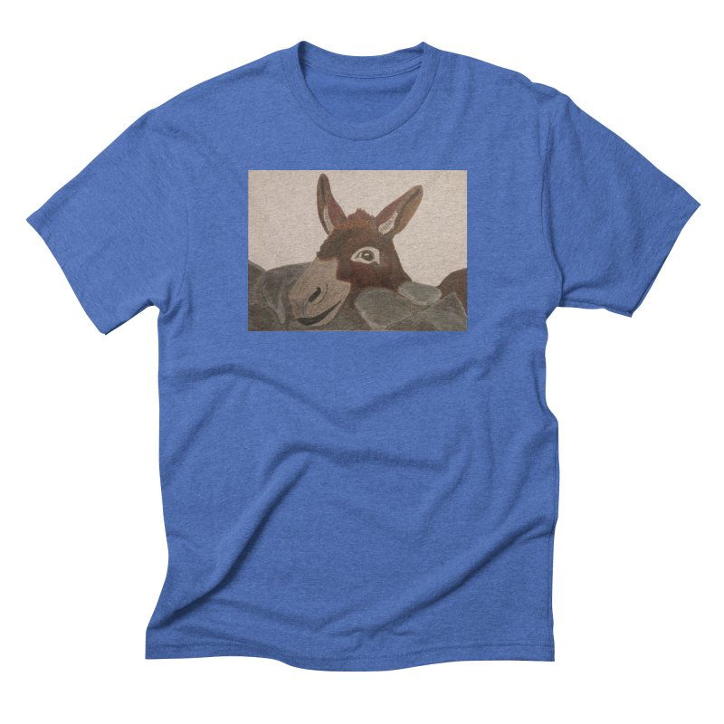 Donkey Men's Triblend T-shirt by Whimsical Wildlife Wares