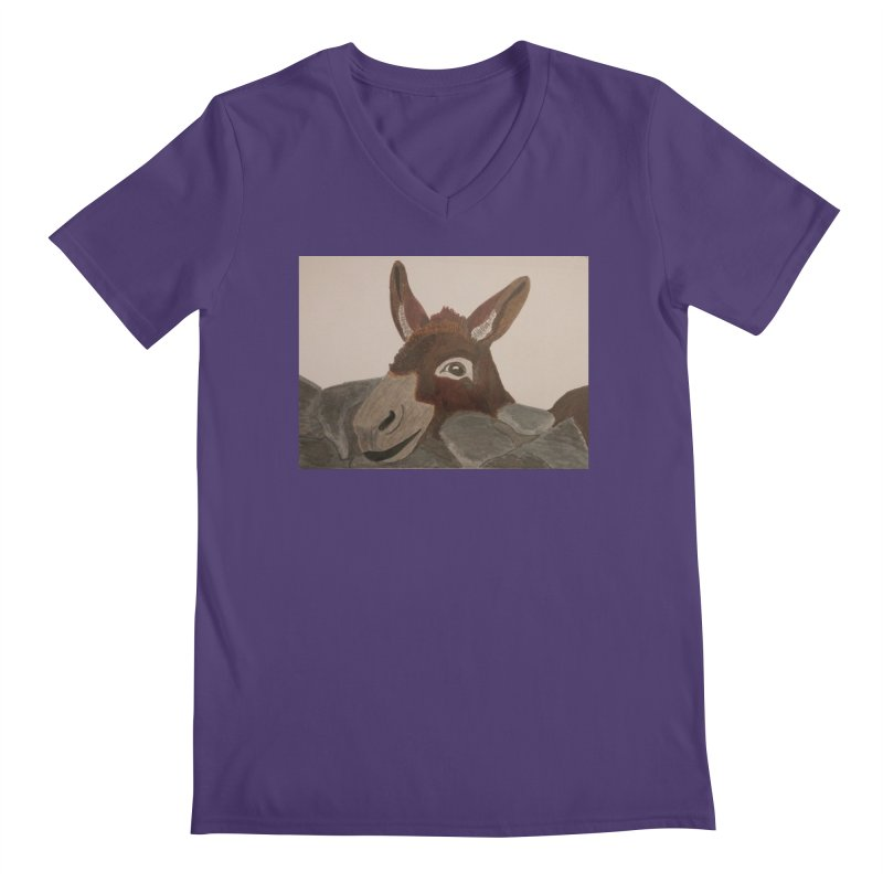 Donkey Men's V-Neck by Whimsical Wildlife Wares