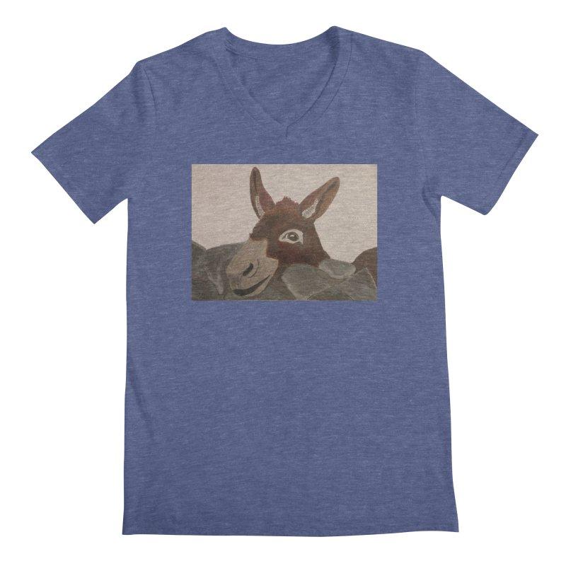 Donkey Men's V-Neck by Whimsical Wildlife Wares