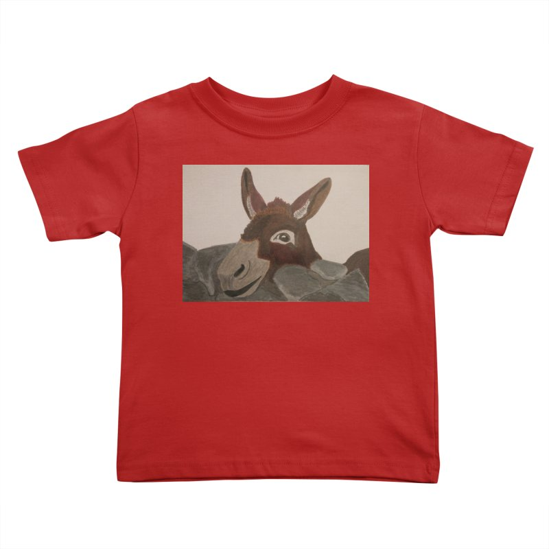 Donkey Kids Toddler T-Shirt by Whimsical Wildlife Wares