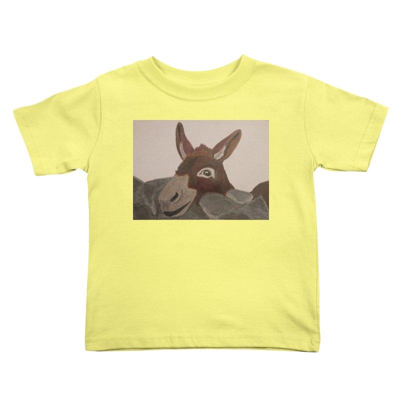 Donkey Kids Toddler T-Shirt by Whimsical Wildlife Wares