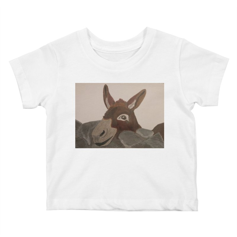 Donkey Kids Baby T-Shirt by Whimsical Wildlife Wares