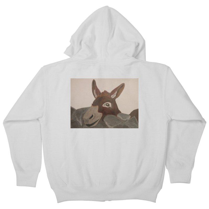 Donkey Kids Zip-Up Hoody by Whimsical Wildlife Wares