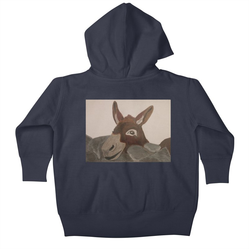 Donkey Kids Baby Zip-Up Hoody by Whimsical Wildlife Wares
