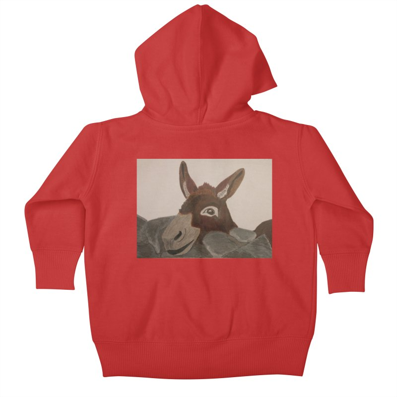 Donkey Kids Baby Zip-Up Hoody by Whimsical Wildlife Wares