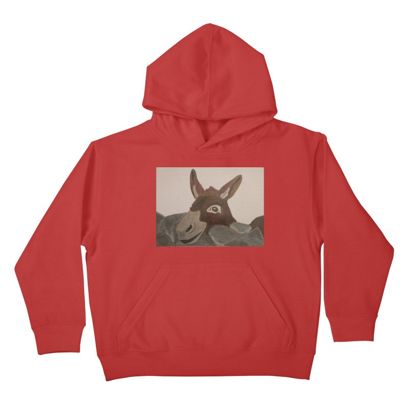 Donkey Kids Pullover Hoody by Whimsical Wildlife Wares