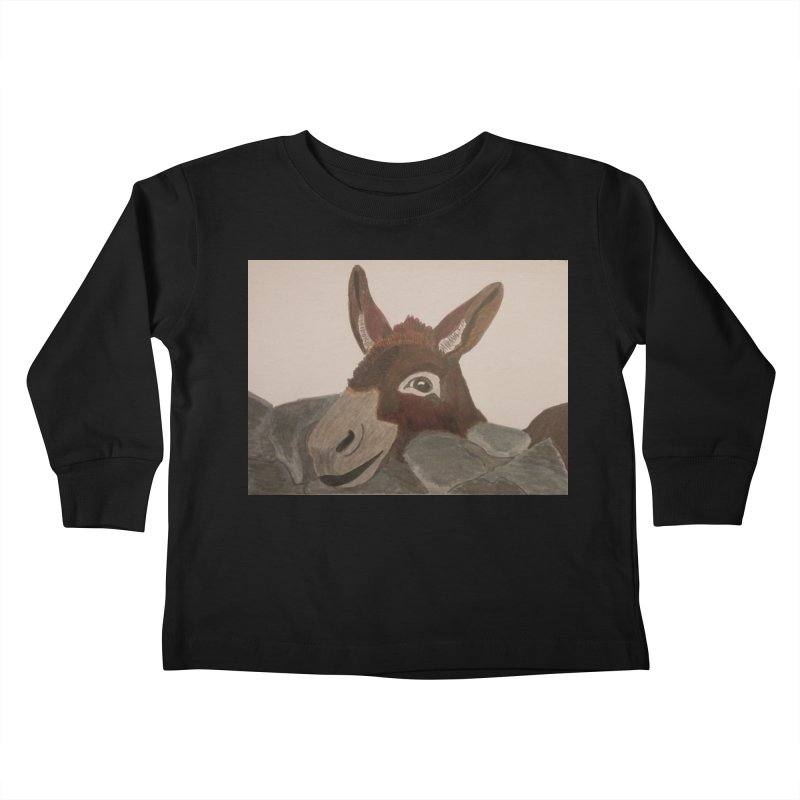 Donkey Kids Toddler Longsleeve T-Shirt by Whimsical Wildlife Wares