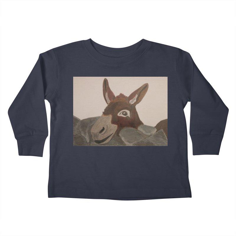 Donkey Kids Toddler Longsleeve T-Shirt by Whimsical Wildlife Wares