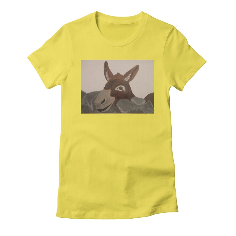 Donkey Women's Fitted T-Shirt by Whimsical Wildlife Wares