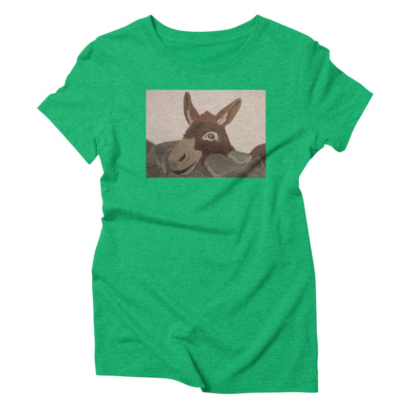 Donkey Women's Triblend T-Shirt by Whimsical Wildlife Wares