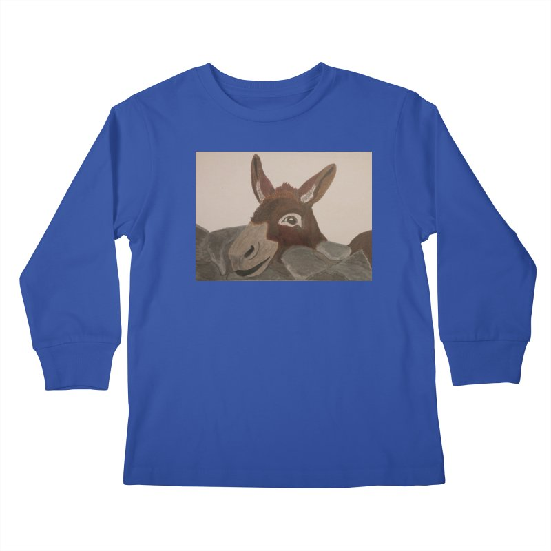 Donkey Kids Longsleeve T-Shirt by Whimsical Wildlife Wares