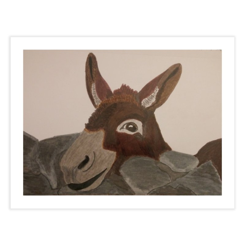 Donkey Home Fine Art Print by Whimsical Wildlife Wares