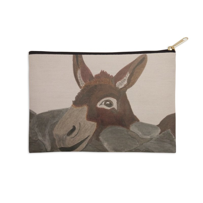 Donkey Accessories Zip Pouch by Whimsical Wildlife Wares