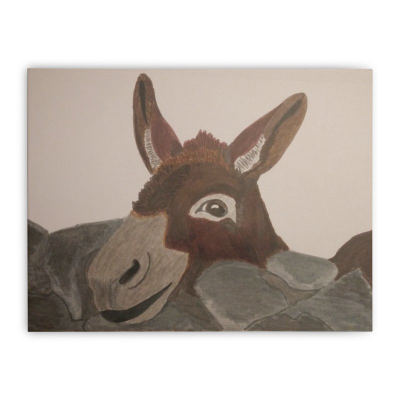 Donkey Home Stretched Canvas by Whimsical Wildlife Wares