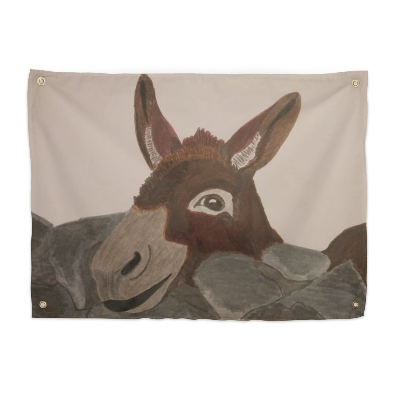 Donkey Home Tapestry by Whimsical Wildlife Wares