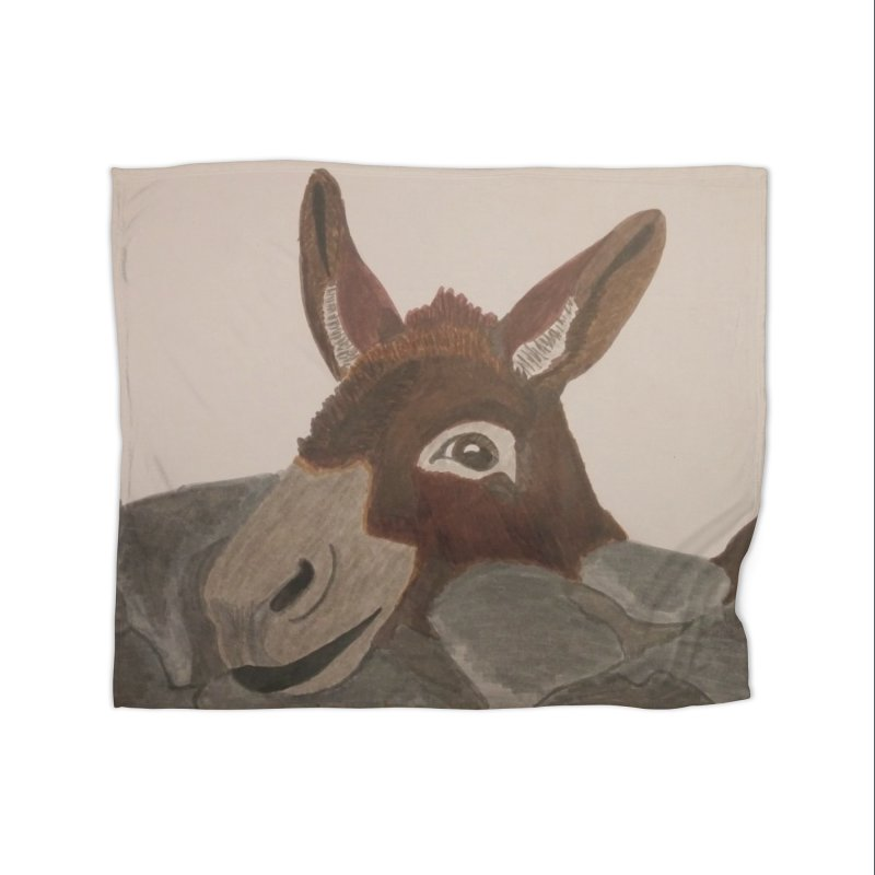 Donkey Home Blanket by Whimsical Wildlife Wares