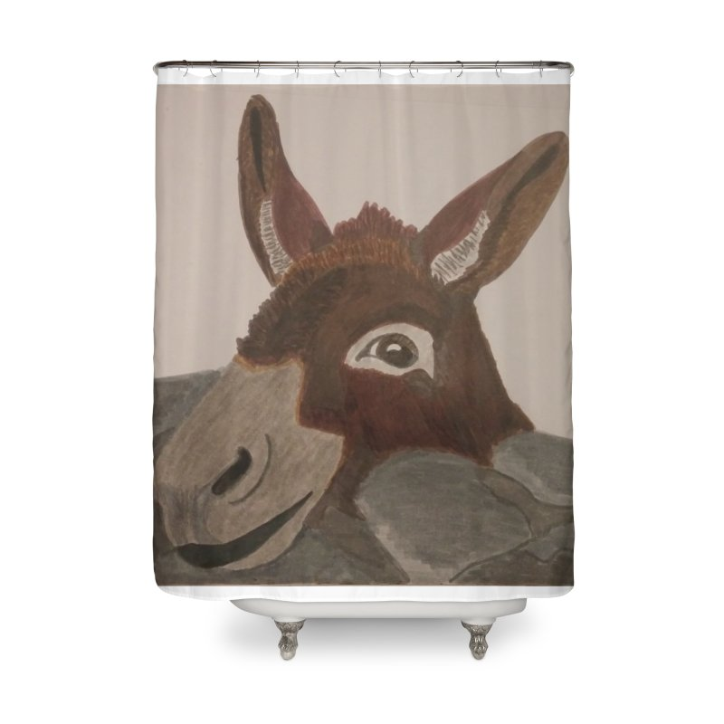 Donkey Home Shower Curtain by Whimsical Wildlife Wares