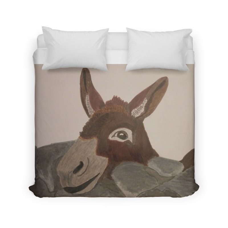 Donkey Home Duvet by Whimsical Wildlife Wares