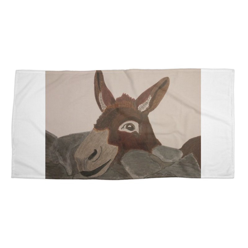 Donkey Accessories Beach Towel by Whimsical Wildlife Wares