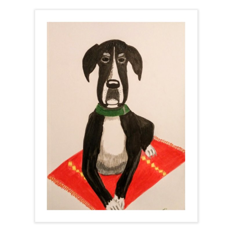 Great Dane Home Fine Art Print by Whimsical Wildlife Wares