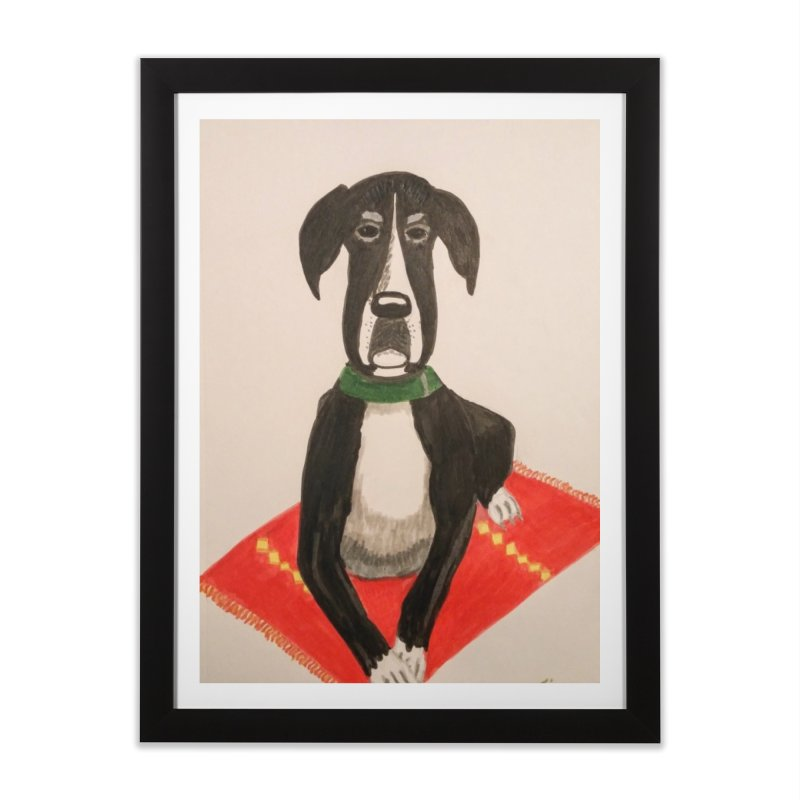 Great Dane Home Framed Fine Art Print by Whimsical Wildlife Wares