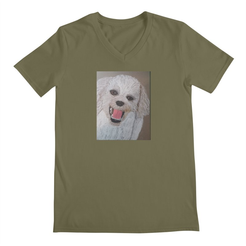 Golden Doodle Men's V-Neck by Whimsical Wildlife Wares